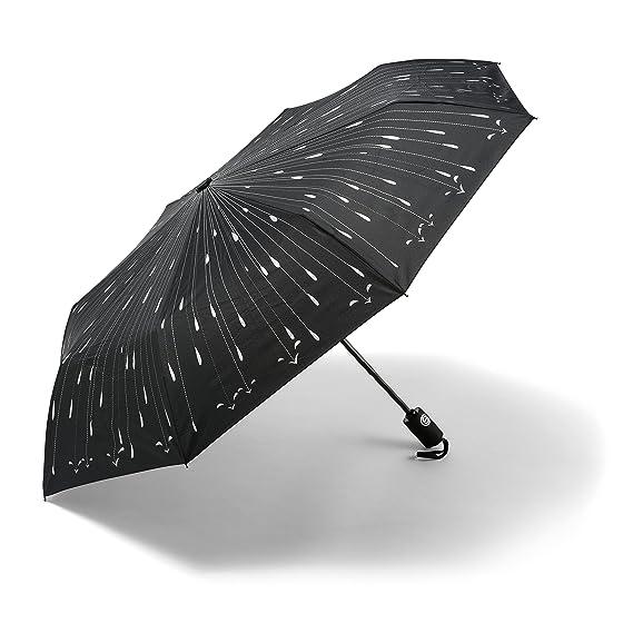 Paraguas - El Mejor Paraguas de Apertura Automática - REEMBOLSO GARANTIZADO- Apertura/Cierre automático - Paraguas de Viajes a Prueba de Vientos Fuertes #1 ...