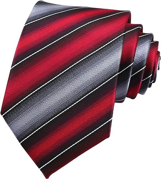 Tie Pocket Square Set Red White Stripe Patterned Handmade 100/% Silk Wedding