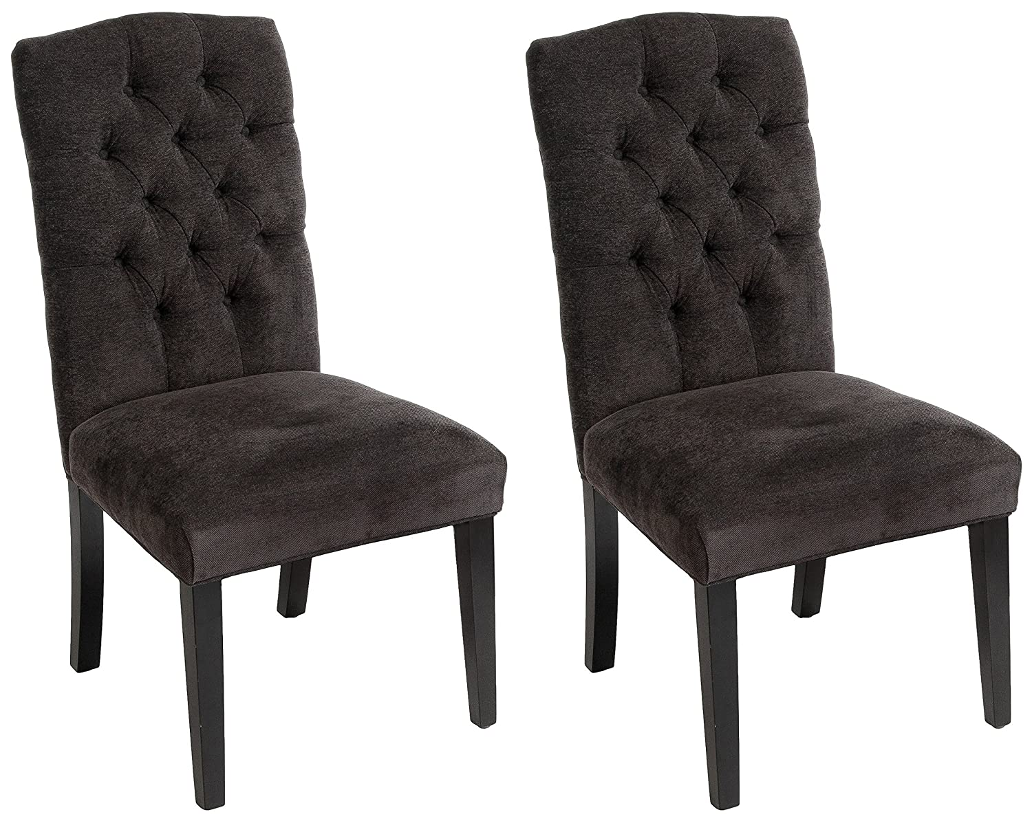 Admirable Christopher Knight Home 234897 Crown Top Dark Grey Dining Chairs Set Of 2 Download Free Architecture Designs Scobabritishbridgeorg