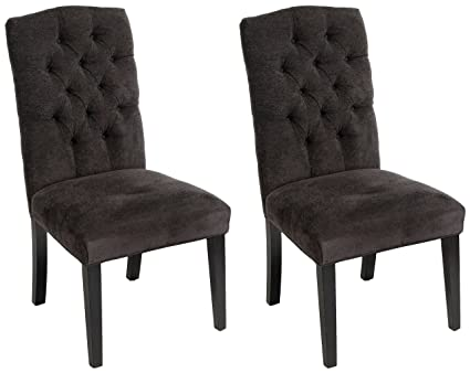 Merveilleux Crown Top Dark Grey Dining Chairs (Set Of 2) By Christopher Knight Home