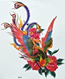 """GGSELL GGSELL hot selling extra large new design big size 7.87 x 8.66 Inches waterproof colorful phoenix temporary tattoo sticker for women"""""""
