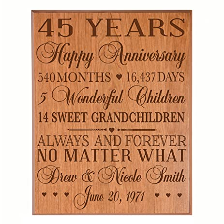 amazon com personalized 45th anniversary gifts for him her couple