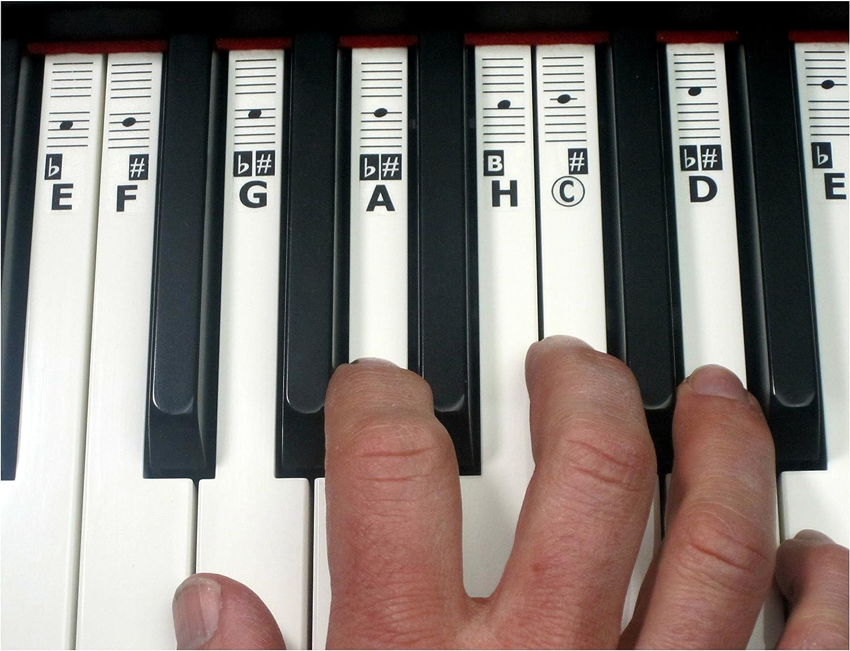 keynotes H Piano Keyboard Piano Música Botones adhesivos para aprender la fragancia con Online Aprendizaje ayudas – 52 – Etiquetas (cdefgah)