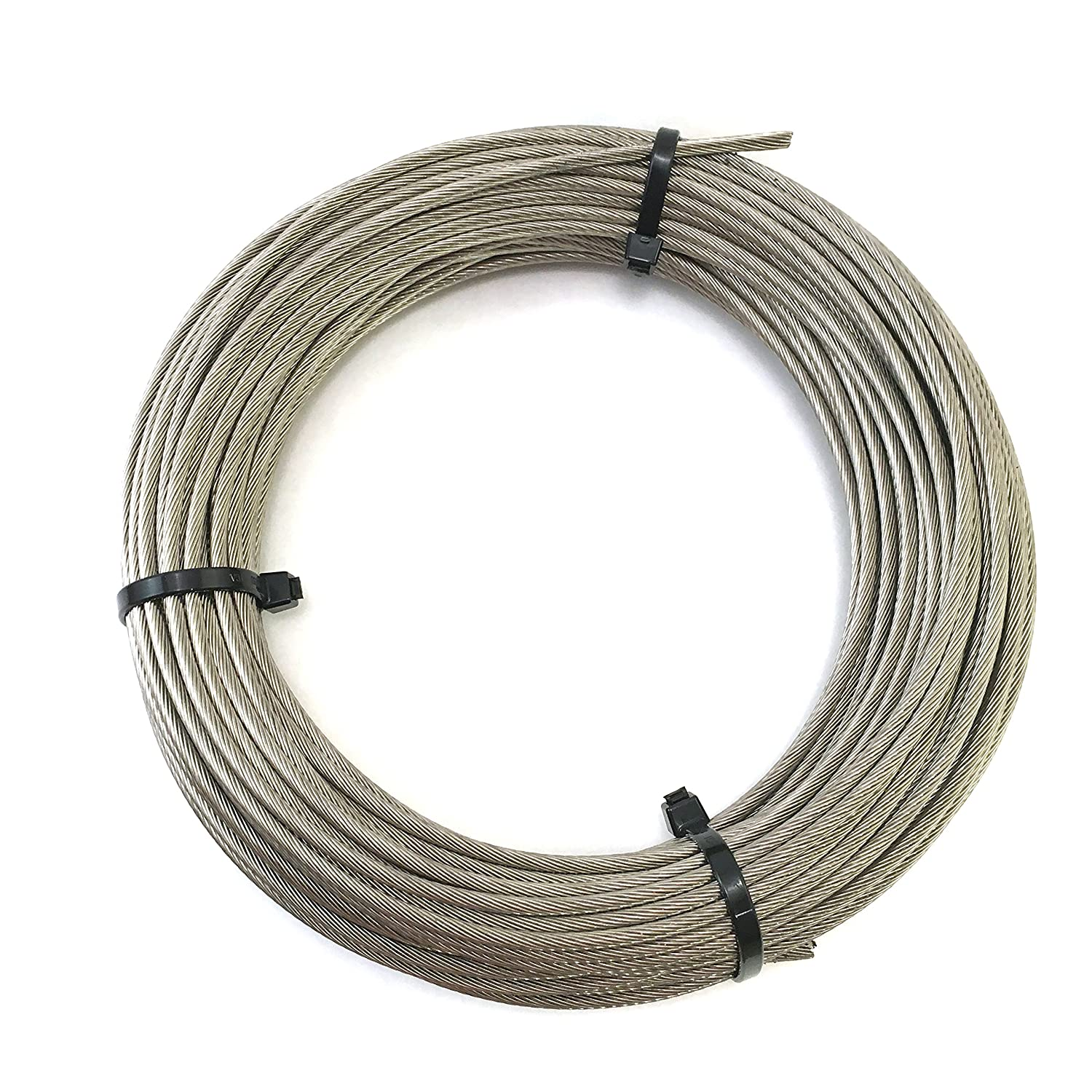 Stainless Steel Aircraft Cable 1 8 1x19 Marine Grade Type 316 Grade 100ft