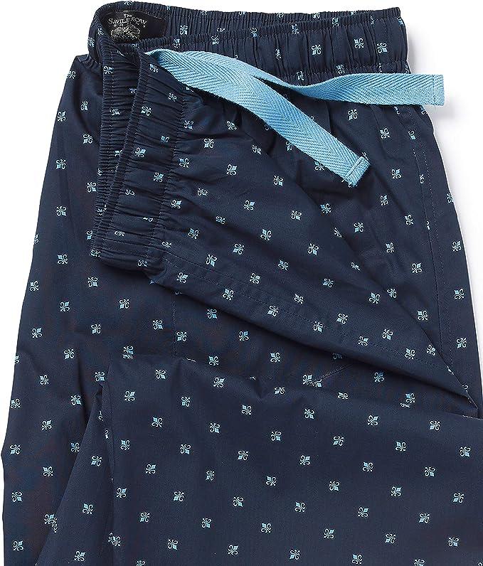 Savile Row Company Navy Striped Cotton Lounge Pants