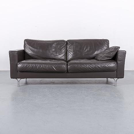 Poltrona Frau Armonia Leder Sofa Braun Dreisitzer Couch ...