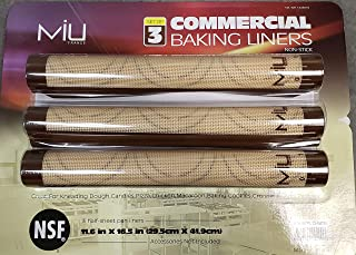 Silicone Baking Liners 3-Pack: Colors Vary by MIU France 99199