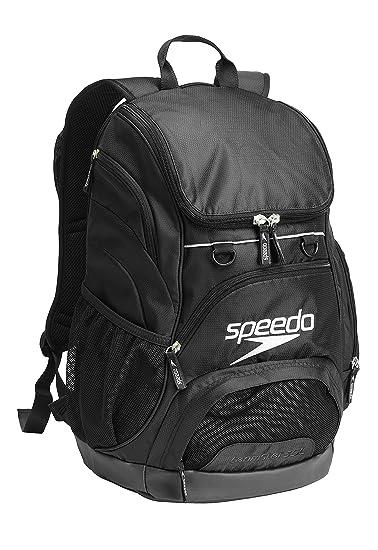 329061a76 Amazon.com: Speedo Printed Teamster 35L Backpack, Black/Black, 1SZ: Clothing