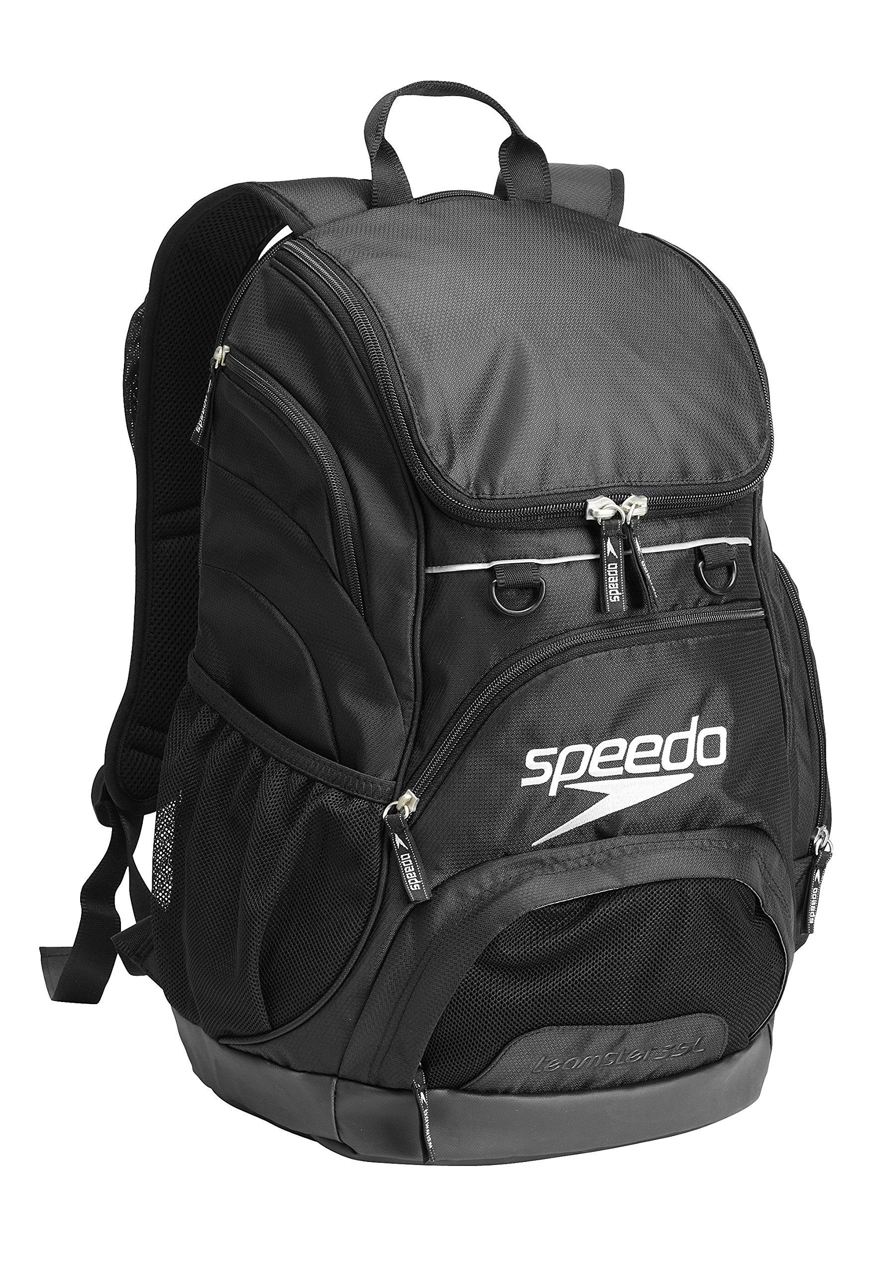 Speedo Printed Teamster 35L Backpack, Black/Black, 1SZ
