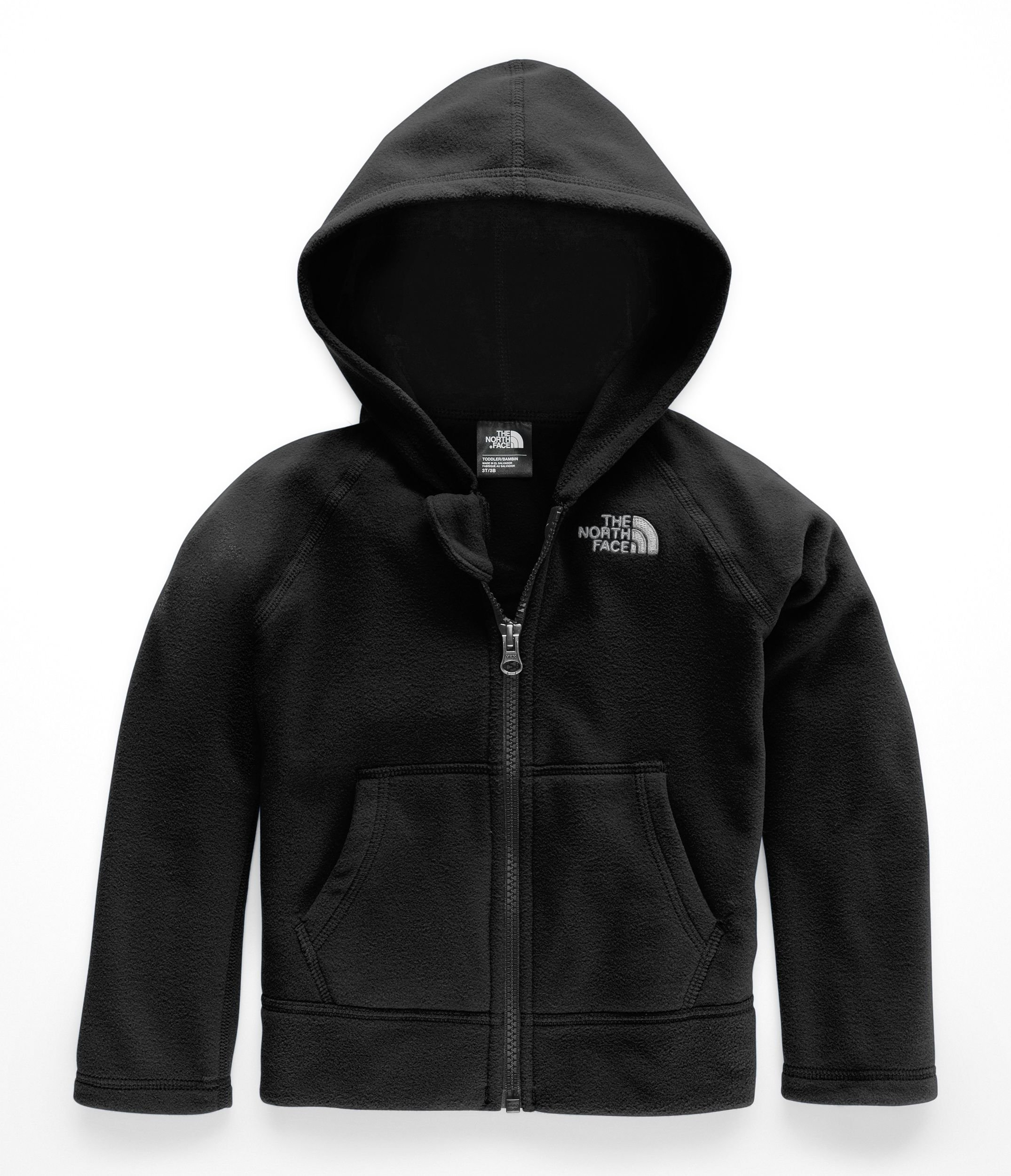 The North Face Toddler Glacier Full Zip Hoodie - TNF Black & TNF White - 6T by The North Face