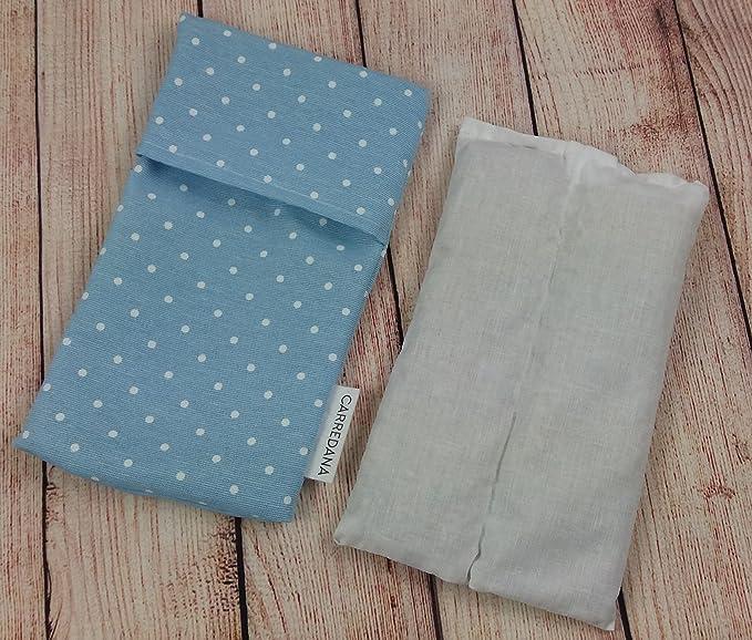 Saco térmico anti-cólicos bebé de semillas de trigo y lavanda.23 x 12cm (Azul topos): Amazon.es: Bebé