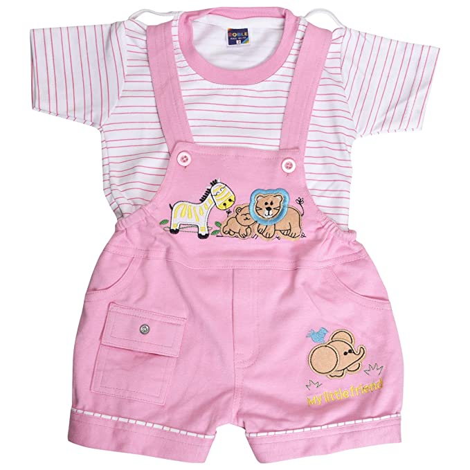 085e297fa35 Roble Party Wear Romper Baba Suit Dungree Jumpsuit Pink Outfits For Newbron  Babies Boys   Girls