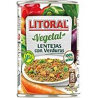 LITORAL Vegetal Lentejas con Verduras, Plato Preparado Sin