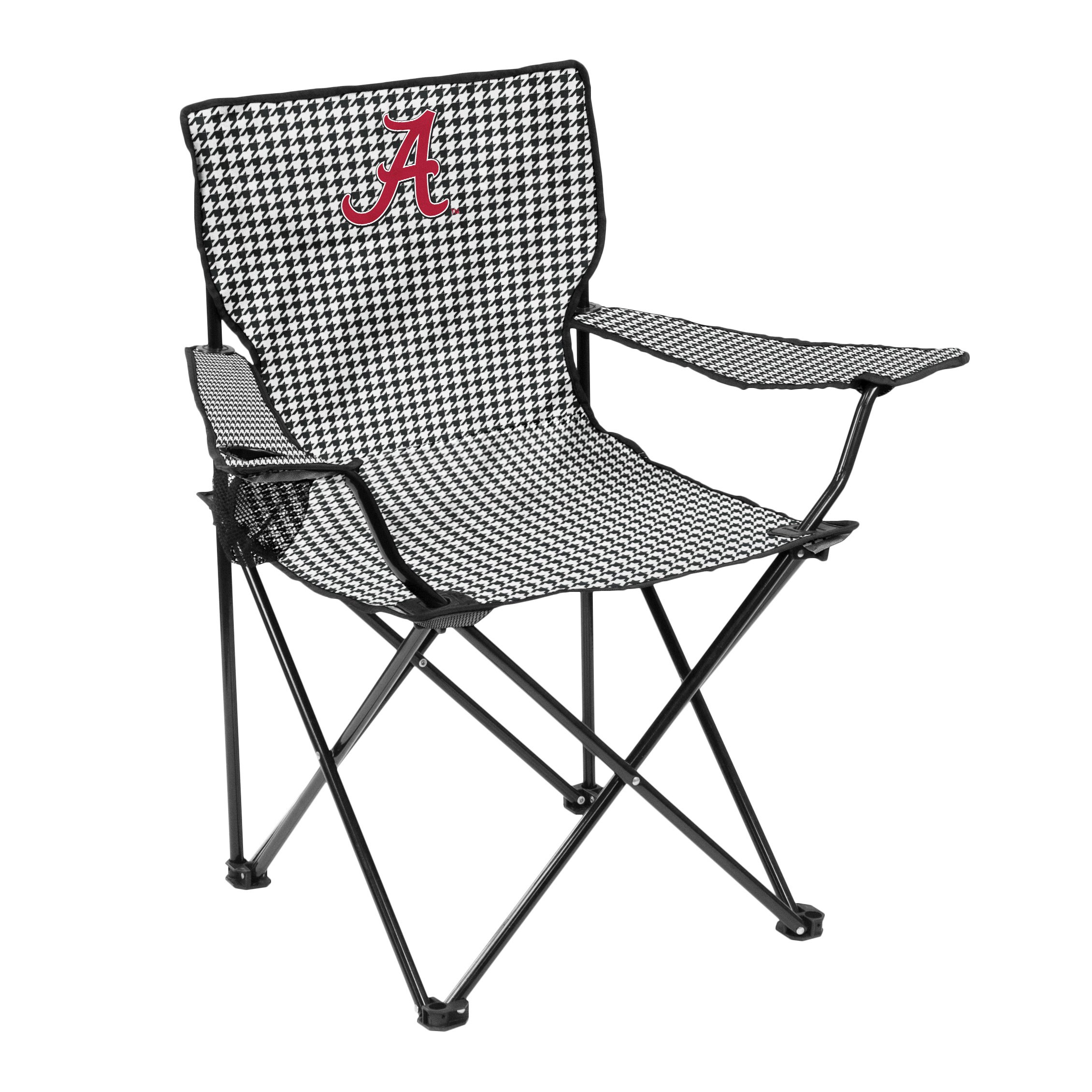 Logo Brands NCAA Alabama Crimson Tide Adult Quad Chair, Black/White