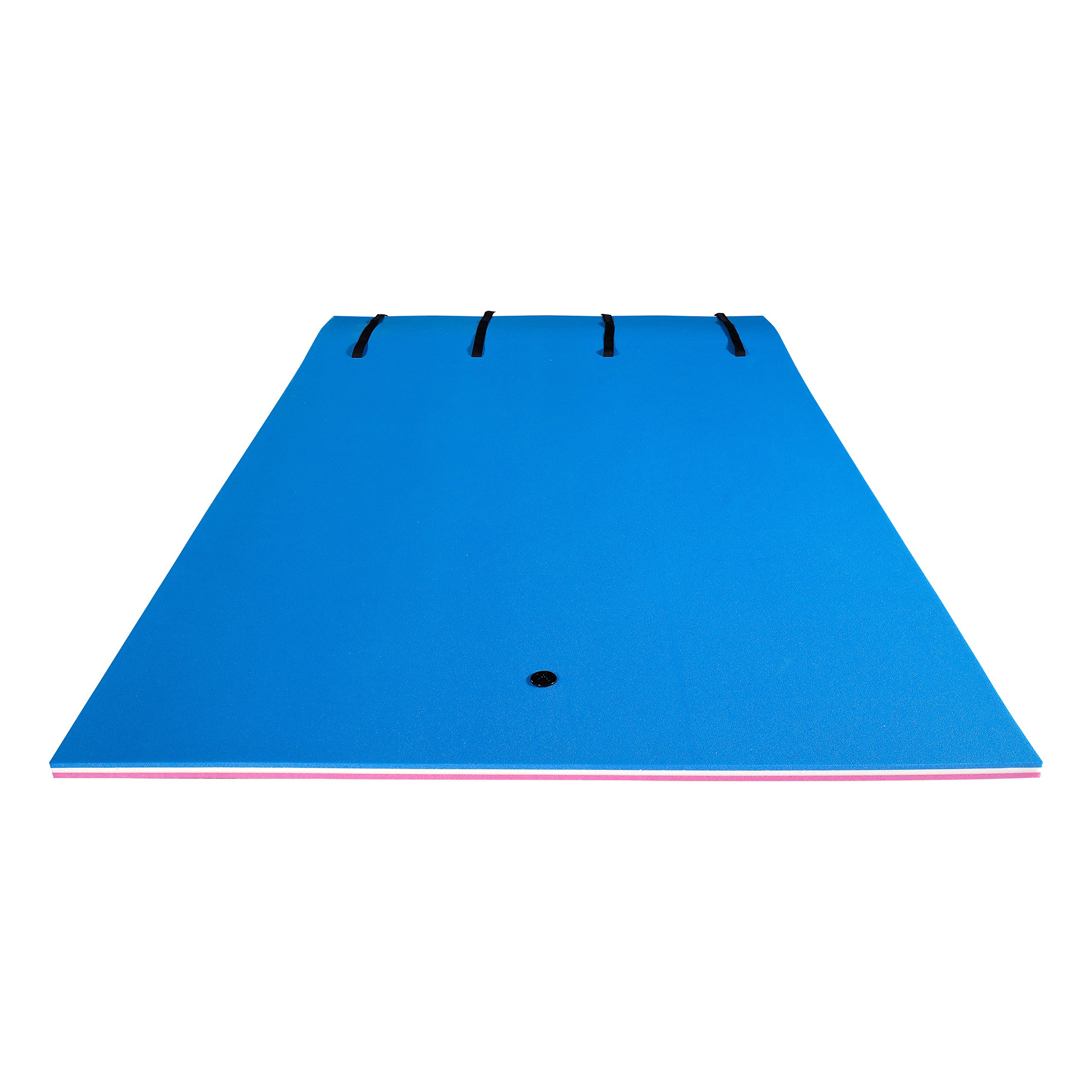 Fun Float Floating Water Mat, 9x6 feet, Swimming Island,Aqua Pad,Used in Lake,Pool,on Beach,for Relax, Vacation,Water Activities,Sports,Recreations,Parties,with Mooring Device,Rolled Packed, L-PWB by Fun Float (Image #7)