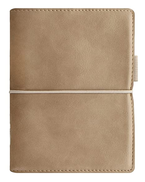 Filofax Domino Soft Leather-Look Organizer Calendar Agenda Weekly Planner with DiLoro Jot Pad (Pocket 2019 Fawn 022584)