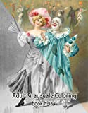 """Adult Coloring Book (24 pages 8""""x11"""") Vintage Clowns Carnival FLONZ Vintage Designs for Grayscale Coloring"""