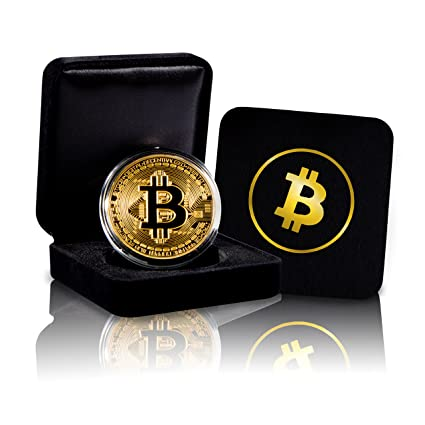 Review Bitcoin Commemorative Coin with Showcase Box and Plastic Round Display Case Set | Cryptocurrency Coin for HODL Fans | BTC Novelty Physical Token Coins are a Good Present Ideas for Office Desk Decor