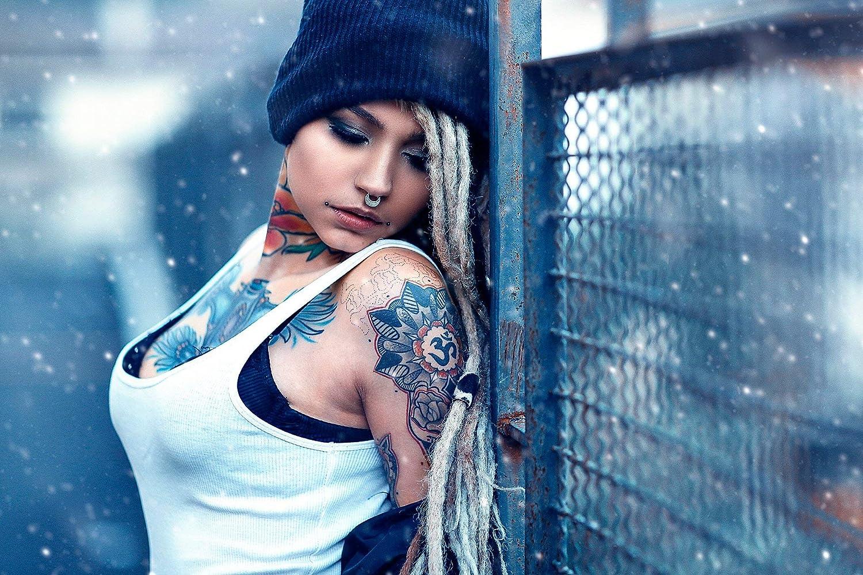 Amazon.com: DROB Collectibles Tattooed Girl Erotic Art ...