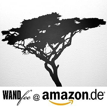 XXL Wandtattoo Afrika Baum Breite 200 Cm X Höhe 180 Cm Schwarz WANDfee