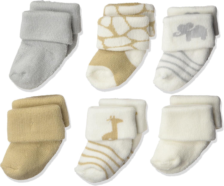 Luvable Friends Unisex Baby Newborn and Baby Socks Set