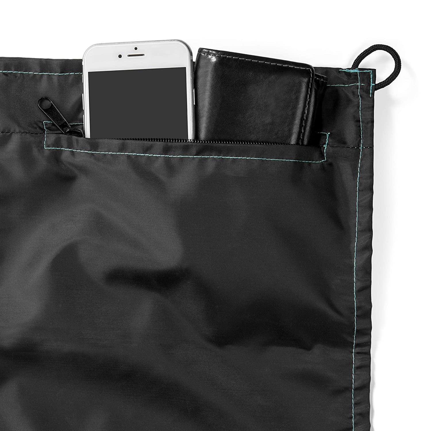 Great for Beach 4 Weightable Pockets 10 x 9.5 Mat Quick Drying Compact Sand Free Outdoor Beach Blanket 8 Anchor Stakes and Zippered Valuables Pocket 4 Weightable Pockets Picnics Camping and Sporting Events 10/' x 9.5/' Mat