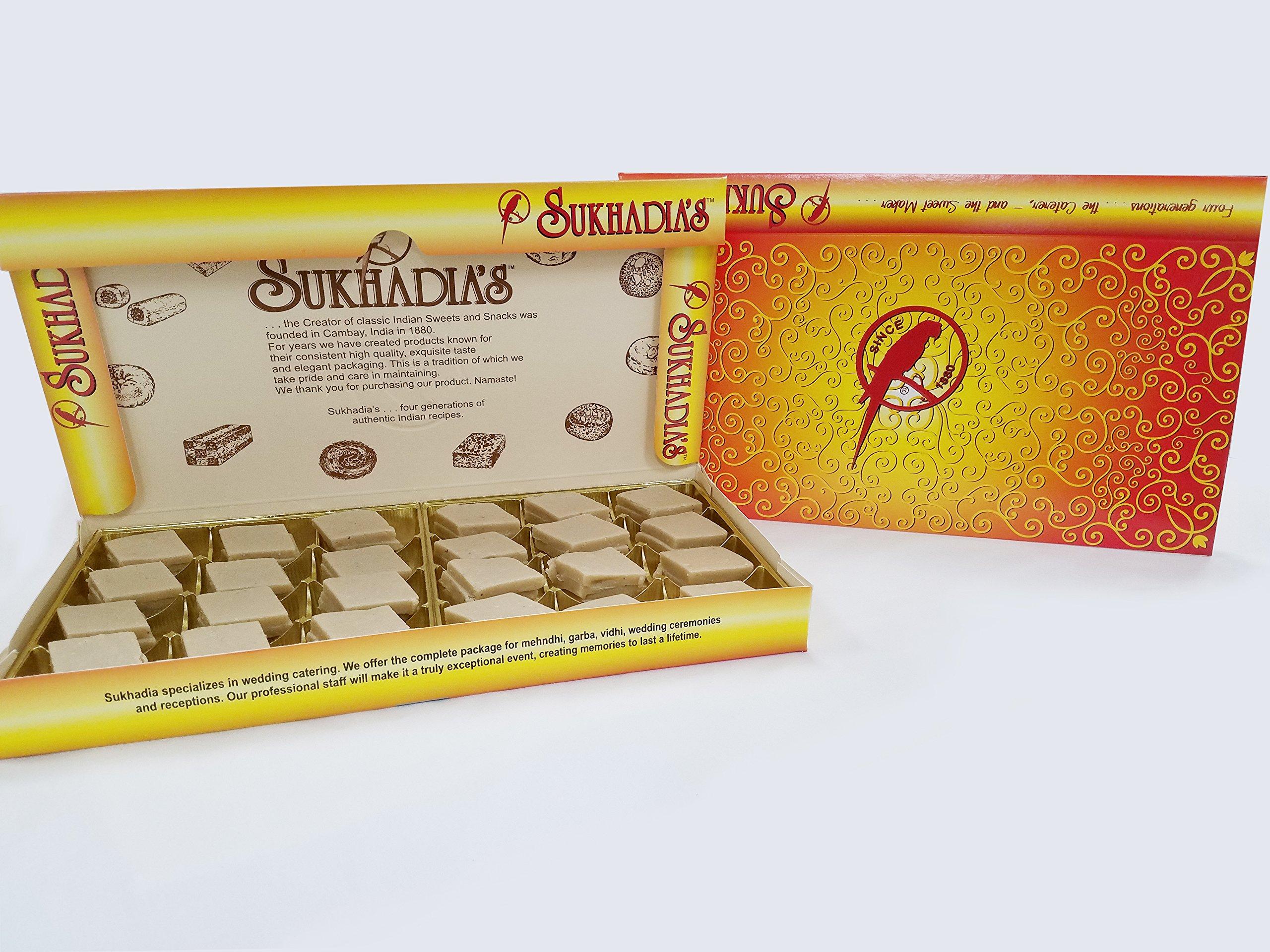 Sukhadia's Kaju Katli, Indian Sweet, 2LB Box (32oz)