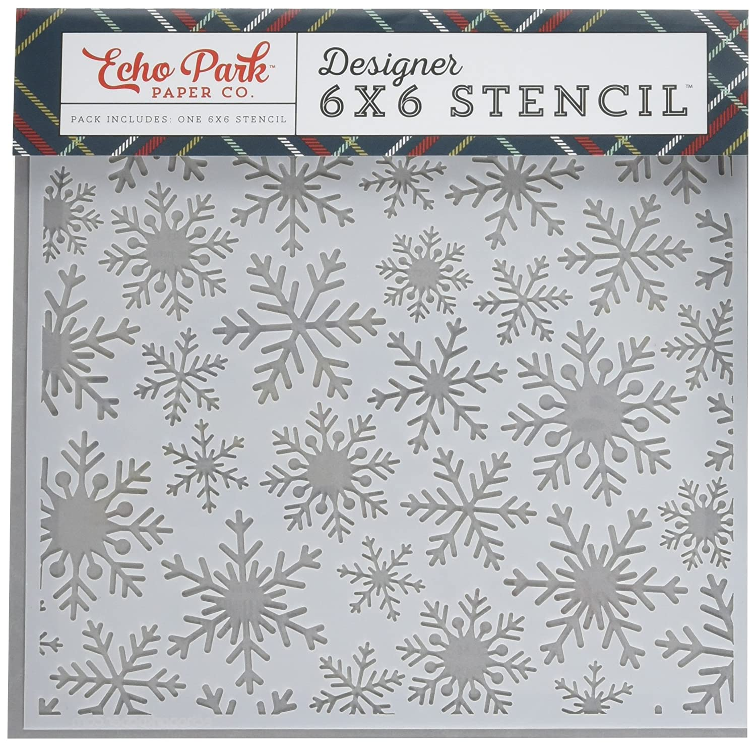 Echo Park Paper Company DH116036 Frosted Snowflake Stencil