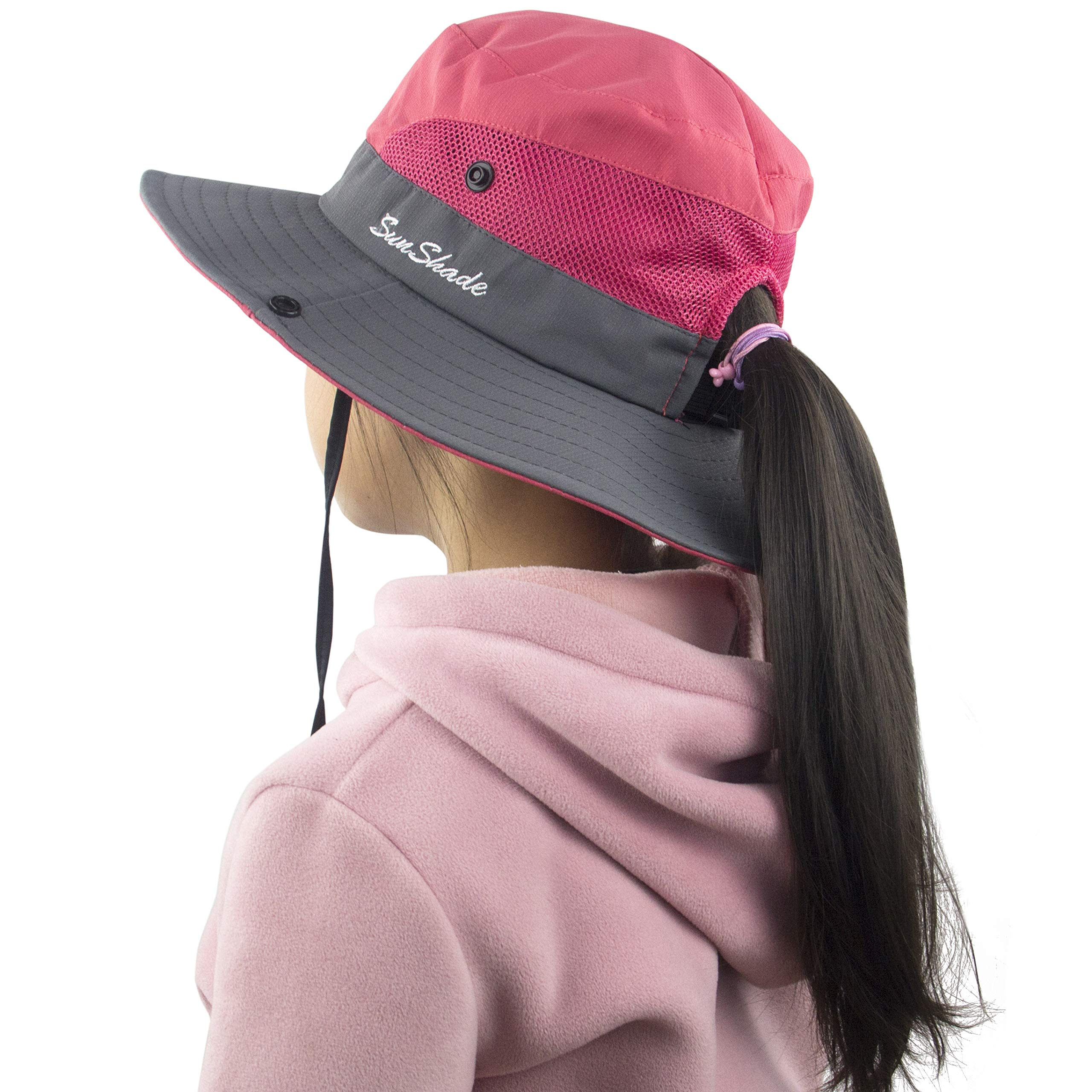 Muryobao Toddler Child Kids Girls Summer Sun Hat Wide Brim UV Protection Hats Floppy Bucket Cap for Beach Fishing Gardening Watermelon Red by Muryobao