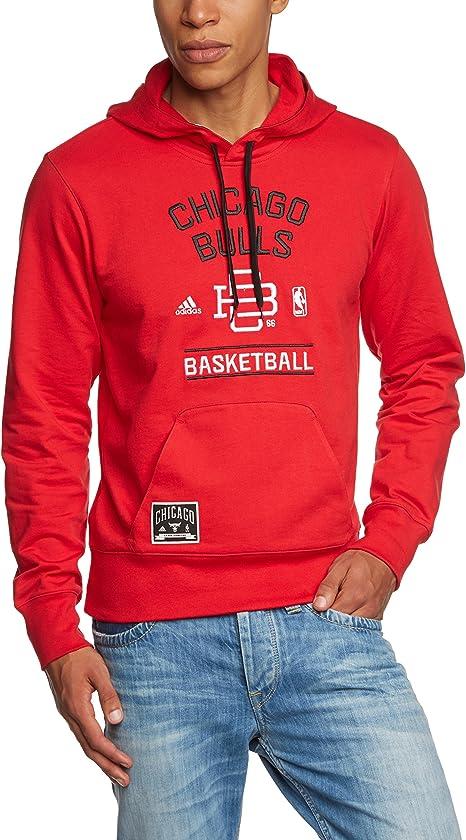 semplice mammifero Allergia  adidas, Felpa con Cappuccio Uomo Performance Chicago Bulls, Rosso  (NBA-Cbu), M: Amazon.it: Abbigliamento
