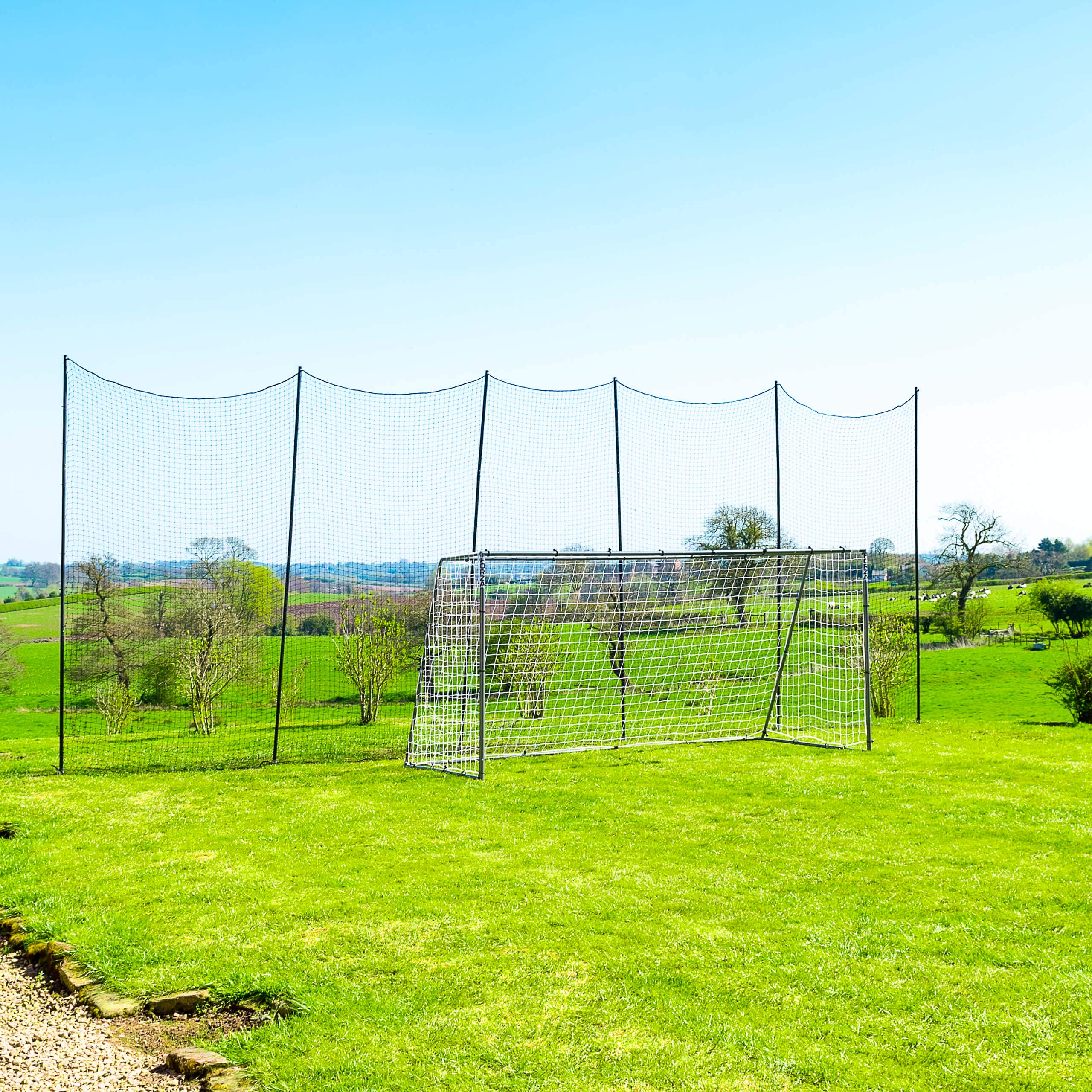 Socketed Stop That Ball - Multi-Sport Ball Stop Netting System for The Backyard, School or Sports Clubs (40ft) by Net World Sports