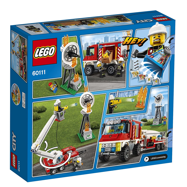 amazoncom lego city fire utility truck set 60111 toys games - Lego City Pompier