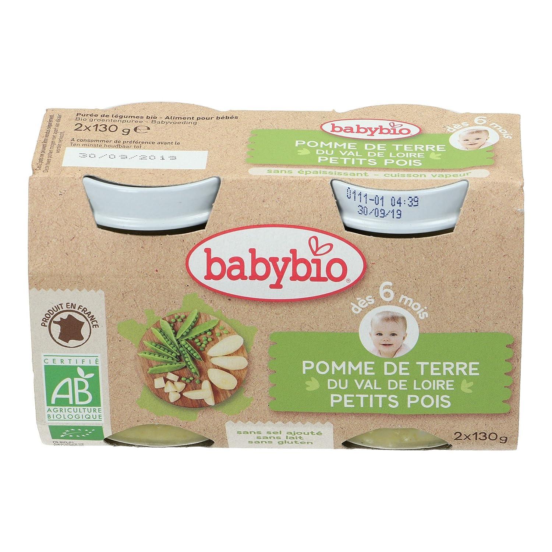 Babybio Petit Pot Pomme de Terre du Val de Loire Petits Pois 6+ Mois 260 g - Lot de 3 VG50044