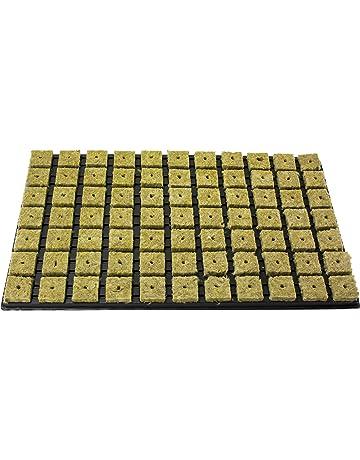 10 Grodan Steinwolle Anzuchtblock Kulturblock 4cm Grow Hydroponik Hydrokultur