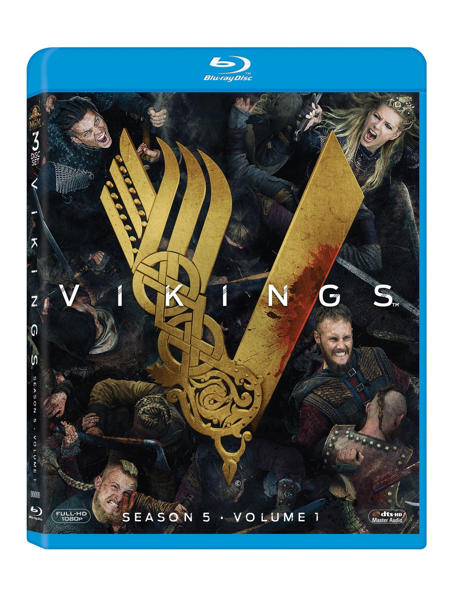 Blu-ray : Vikings: Season 5 - Vol 1 (Subtitled, Widescreen, Digital Theater System, Dolby, 3PC)