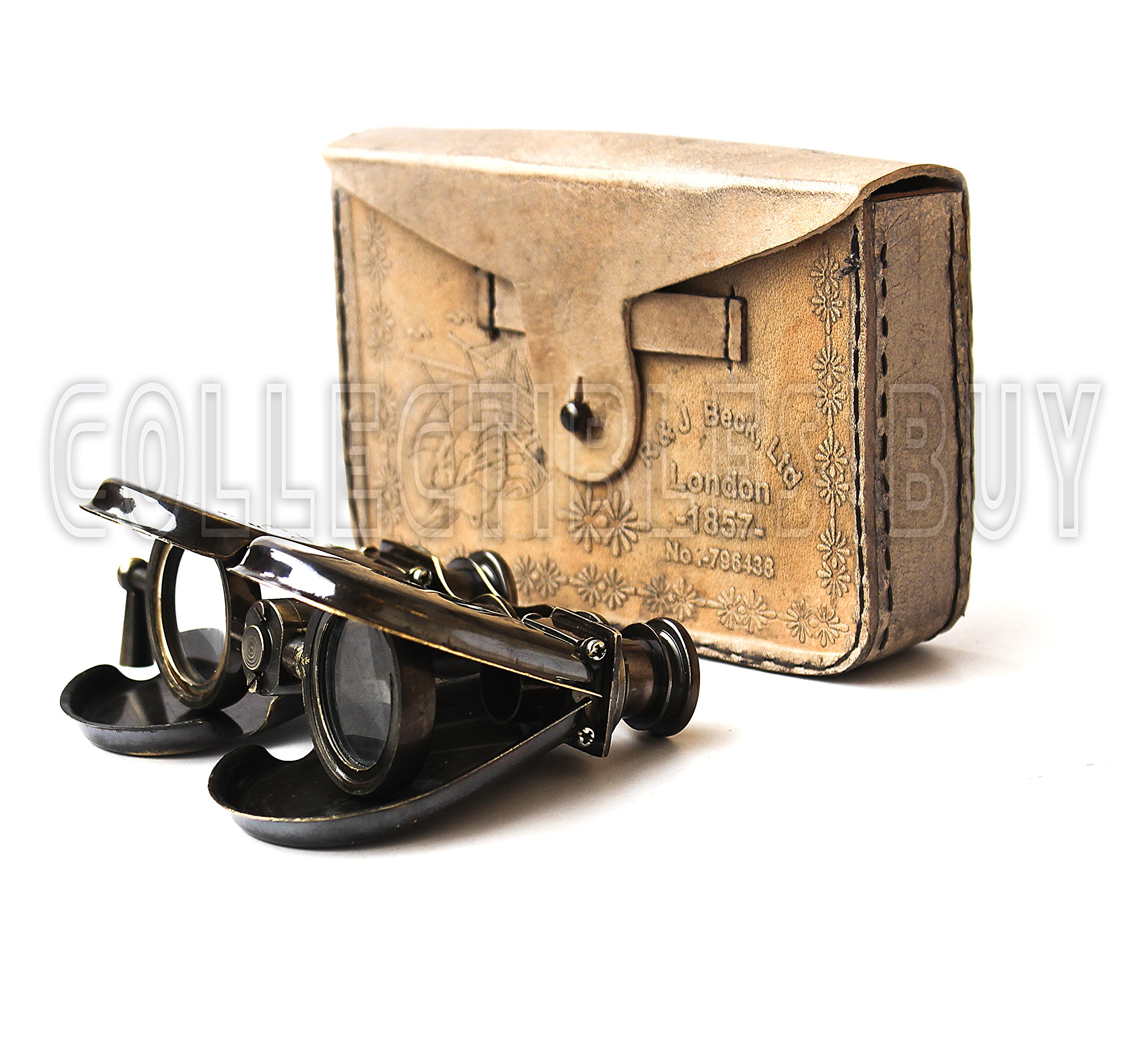 Collectibles Buy Classic Marine Spy Glass Antique London 1857 R & J Beck Brass Binocular Collectibles Gift by Collectibles Buy