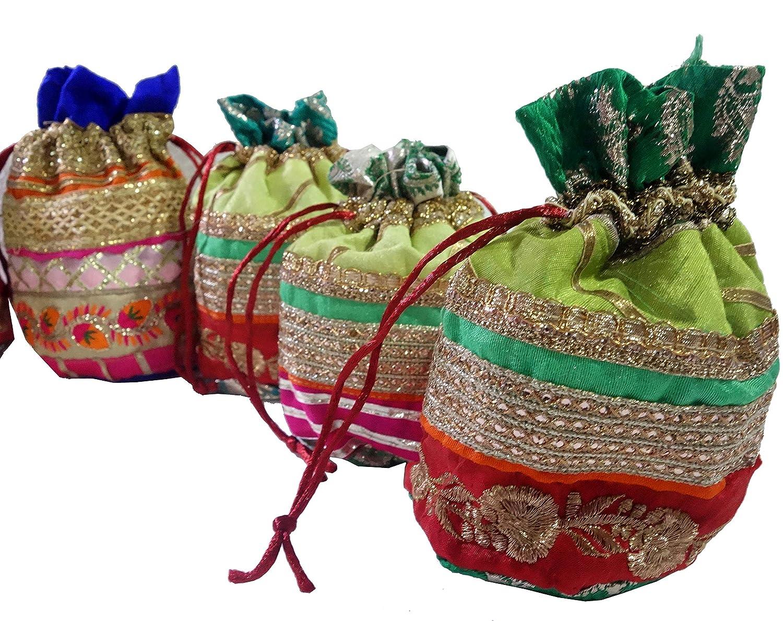 WholeSale 200 pc lot Bulk Indian Purse Coin Purse Women Potli Bag Shoulder bag by Craft Place AAB-15