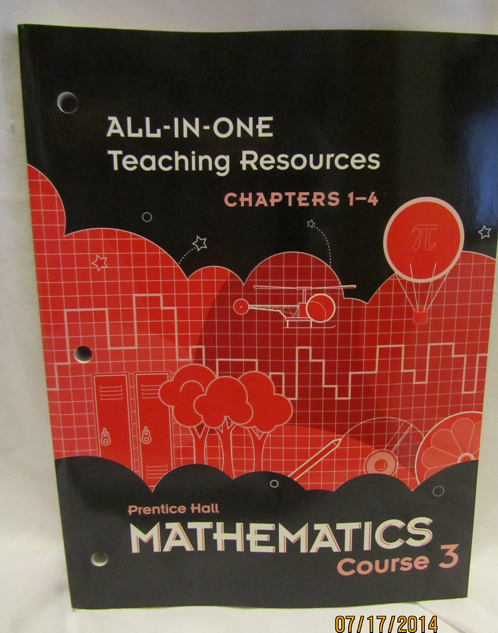 Prentice Hall Mathematics Course 3 All-in-One Teaching Resources Chapters 1-4 ISBN 0133721310 by Pearson pdf epub