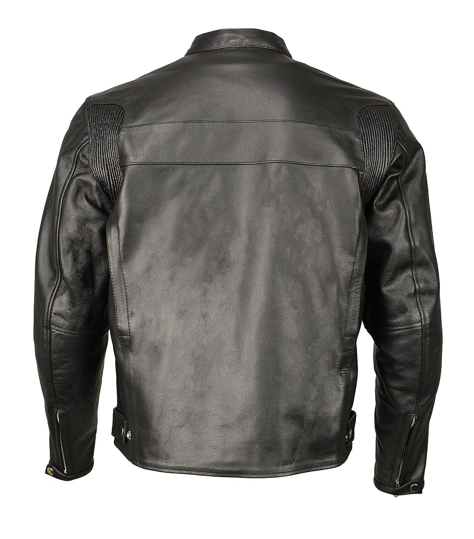 23127dccf Men's Armored Leather Café Racer Jacket