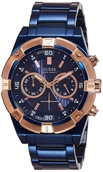 395dc015a57b Guess Reloj analogico para Hombre de Cuarzo con Correa en Acero Inoxidable  W0377G4  Amazon.es  Relojes