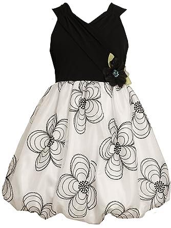 9dea8601ac2f Amazon.com  Bonnie Jean Big Girls  Dress Bodice Sheer Skirt With ...