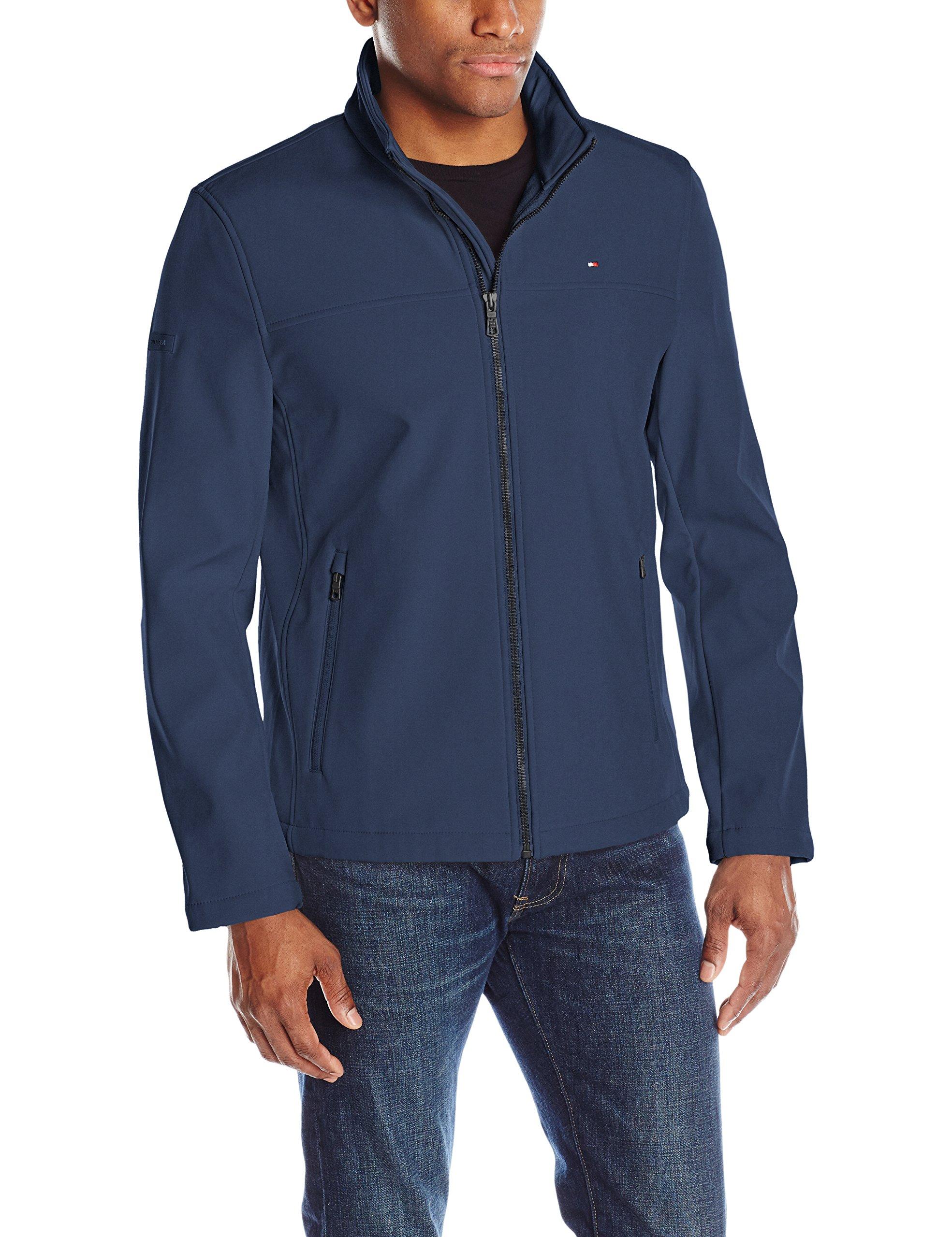 Tommy Hilfiger Men's Classic Soft Shell Jacket, Navy, Large
