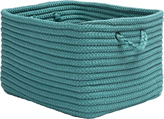 """product image for Colonial Mills Modern Farmhouse Home Basket, 14""""x8""""x10"""", Blue Lagoon"""