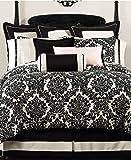 Waterford Linens Lisette Standard Pillow Sham Black/Cream
