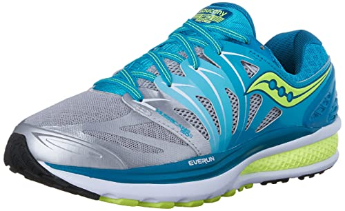 2bd4c739 Saucony Women's Hurricane ISO 2 Road Running Shoe, Blue/Silver/Citron, 5