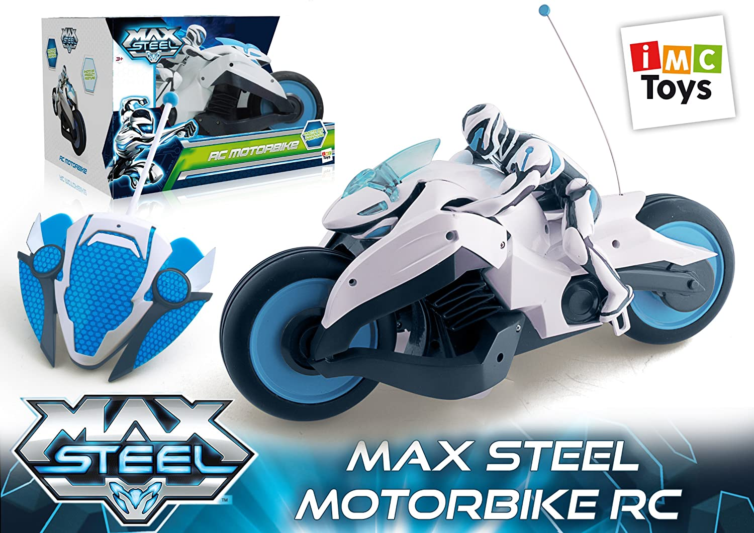 Max Steel Remote Control Turbbo Motorbike Toy Remote Controlled