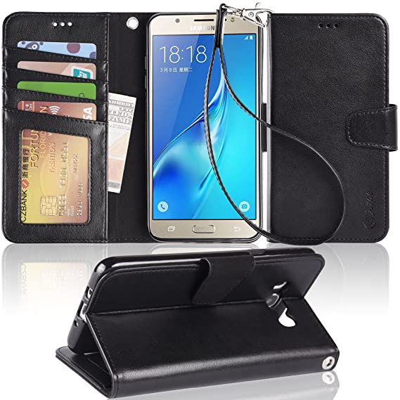 Cell Phone Accessories For Samsung Galaxy J3 2017 & J5 2017 Leather Magnetic Wallet Flip Case Cover Cell Phones & Accessories