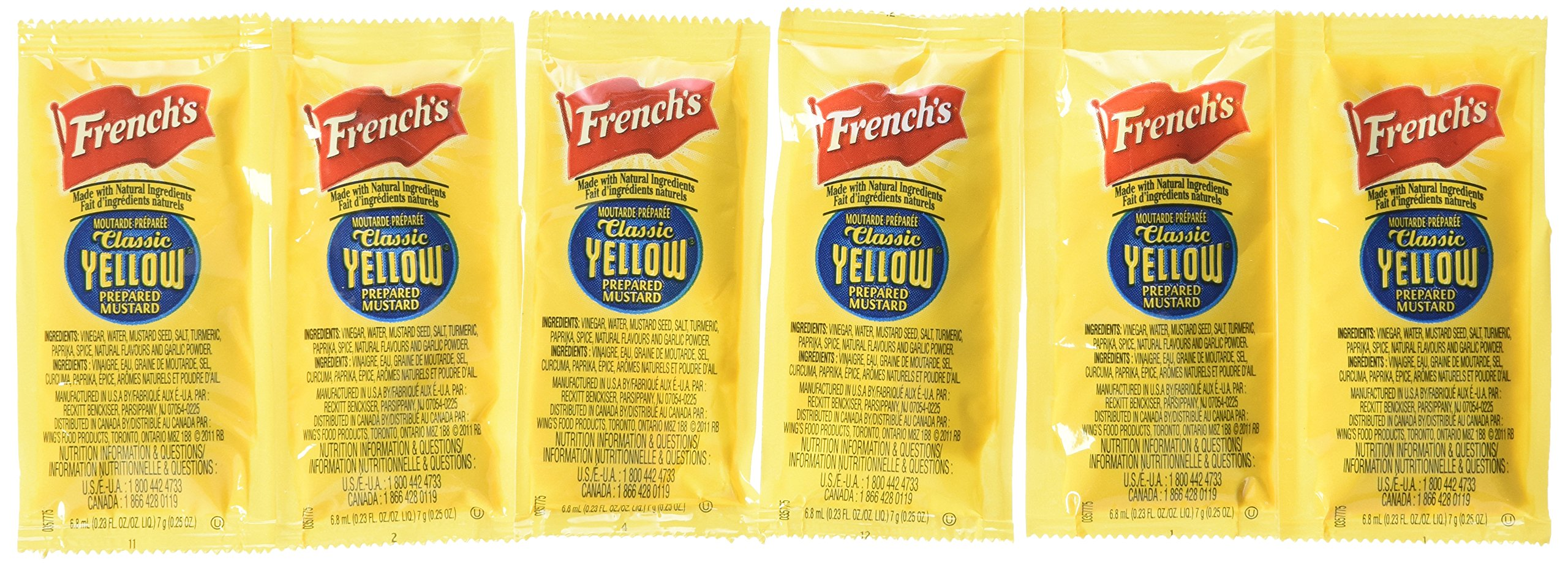 French's Classic Yellow Mustard Packets - Case of 500 by French's