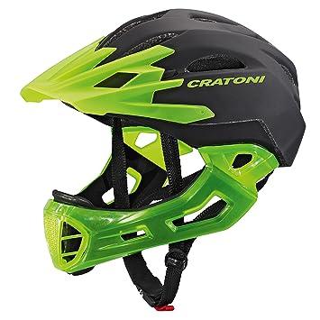 Cratoni C-MANIAC - Casco de moto, black-lucentgreen matt