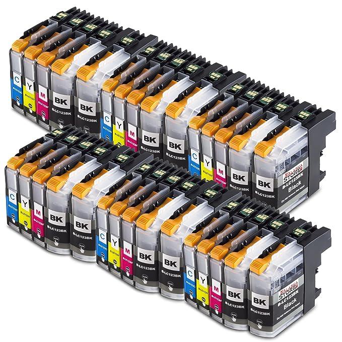30x Cartucho de tinta Compatible Brother LC123 Alta capacidad ...